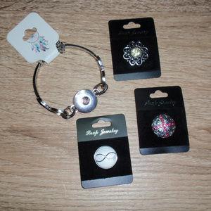 18mm Infinity Snap Bracelet 3 Snaps Cross Family